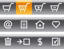Free Vector E-Commerce Icon Set Royalty Free Stock Photos - 9678188