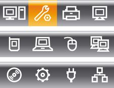 Free Vector Web Icons Set – Hardware Stock Image - 9678261