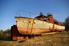 Free Old Rusty Boat Stock Images - 9678294