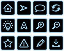 Free Vector Web Icons Set Stock Photo - 9678340