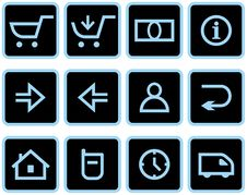 Free Vector E-Commerce Icon Set Royalty Free Stock Image - 9678346