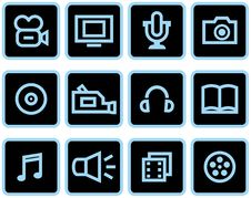 Free Media - Vector Icons Set Royalty Free Stock Photo - 9678375
