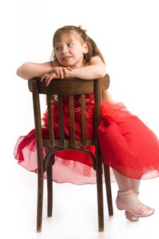 Free Girl On Chair Stock Image - 9678631
