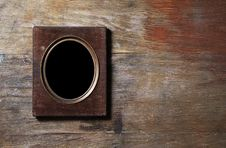 Empty Frame On Wooden Background Stock Photography
