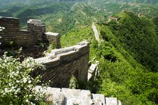 Free Steep Run Of The Great Wall Of China Stock Photo - 9679000