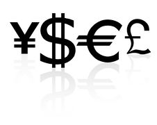 Free Signs On Currencies A Stock Photo - 9679310