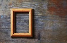 Empty Frame On Wooden Background Royalty Free Stock Image