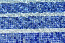 Free Blue Water In Swimming Pool Royalty Free Stock Photos - 9679488