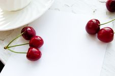 Free Cherry Frame Royalty Free Stock Photography - 9679597