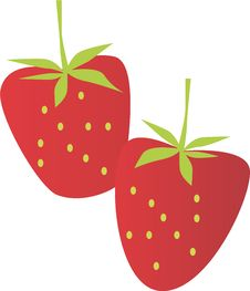 Red Big Strawberry Royalty Free Stock Photos