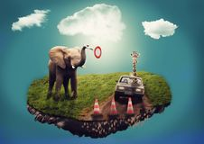 Free Elephants And Mammoths, Indian Elephant, Sky, Elephant Stock Image - 96740691