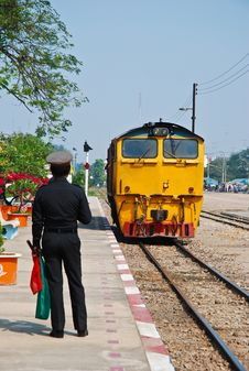 Free Thailand Train Are Running On The Rail Way Stock Images - 96793344