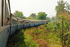 Free Travel By Train In Kanchanaburi Royalty Free Stock Photography - 96793567