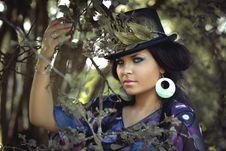 Free Beauty, Girl, Black Hair, Tree Stock Photos - 96797923