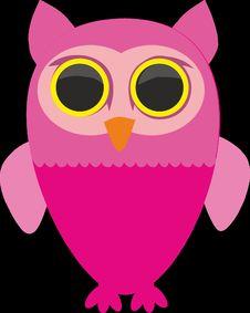 Free Owl, Pink, Bird, Bird Of Prey Royalty Free Stock Image - 96798316