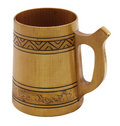 Free Wooden Beer Mug Stock Photography - 9680042