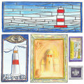 Free Lighthouse Drawings Royalty Free Stock Image - 9680416