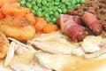 Free Roast Chicken Dinner Stock Photography - 9681002