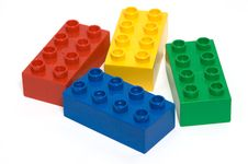 Free Colourful Bricks Royalty Free Stock Image - 9680116