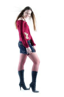Free Young Woman With Long Hair Stock Photography - 9680392