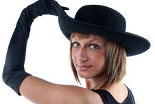 Free Lovely Yong Woman In Hat Stock Photos - 9680443