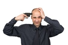 A Man Trying To Suicide Stock Photography