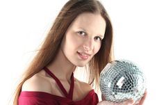 Free Young Woman With Glass Sphere Stock Photos - 9680633