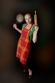 Free Woman With Kitchen Tools Royalty Free Stock Photography - 9680777