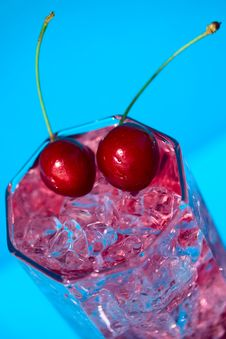 Free Coctail With Cherries Stock Image - 9680811