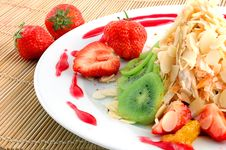 Free Salad From Fruit And Berries Stock Photos - 9681113