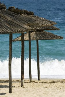 Free Beach Umbrellas Royalty Free Stock Photos - 9683008