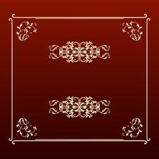 Free Elegant Design Ecru Square Frame Royalty Free Stock Photos - 9683118