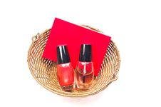 Free Nail Paint Bottles And Perfume Stock Photo - 9683240
