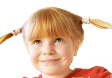 Girl With Funny Tails Stock Photography