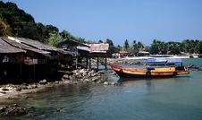 Free Fishing Village,Myanmar Royalty Free Stock Images - 9683509