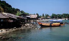 Free Fishing Village,Myanmar Royalty Free Stock Images - 9683509