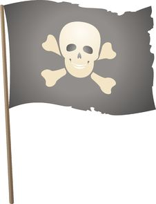 Free Pirate Flag (Vector) Stock Photos - 9683723
