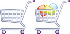 Free Shopping Carts Vector Illustrations Stock Photography - 9683812