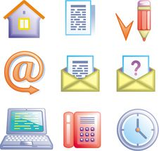 Free Web Icons Set (Vector) Stock Photo - 9684200
