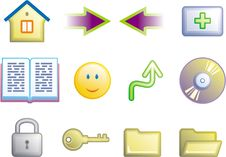 Free Web Icons Set (Vector) Royalty Free Stock Photography - 9684207