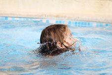 Free Child Swimming Royalty Free Stock Image - 9684446