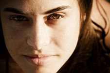 Free Green Eyed Beauty Portrait Royalty Free Stock Photo - 9684455