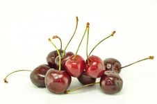Free Handful Of A Sweet Cherry Stock Image - 9685281
