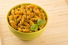 Free Fresh Pasta With Tomato Sauce And Basil. Royalty Free Stock Images - 9685449