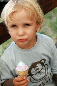 Child Eating Ice Cream Stock Photos