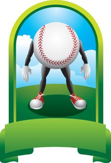 Free Baseball Character In Green Display Stock Photos - 9686923
