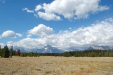 Grand Tetons Landscape With Prairie Royalty Free Stock Images