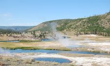 Free Yellowstone River And Hot Springs Landscape Stock Photos - 9687763