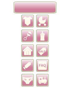Free Baby Icons 1 Stock Image - 9687981