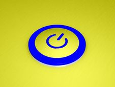 Free 3D Power Button Stock Image - 9688271
